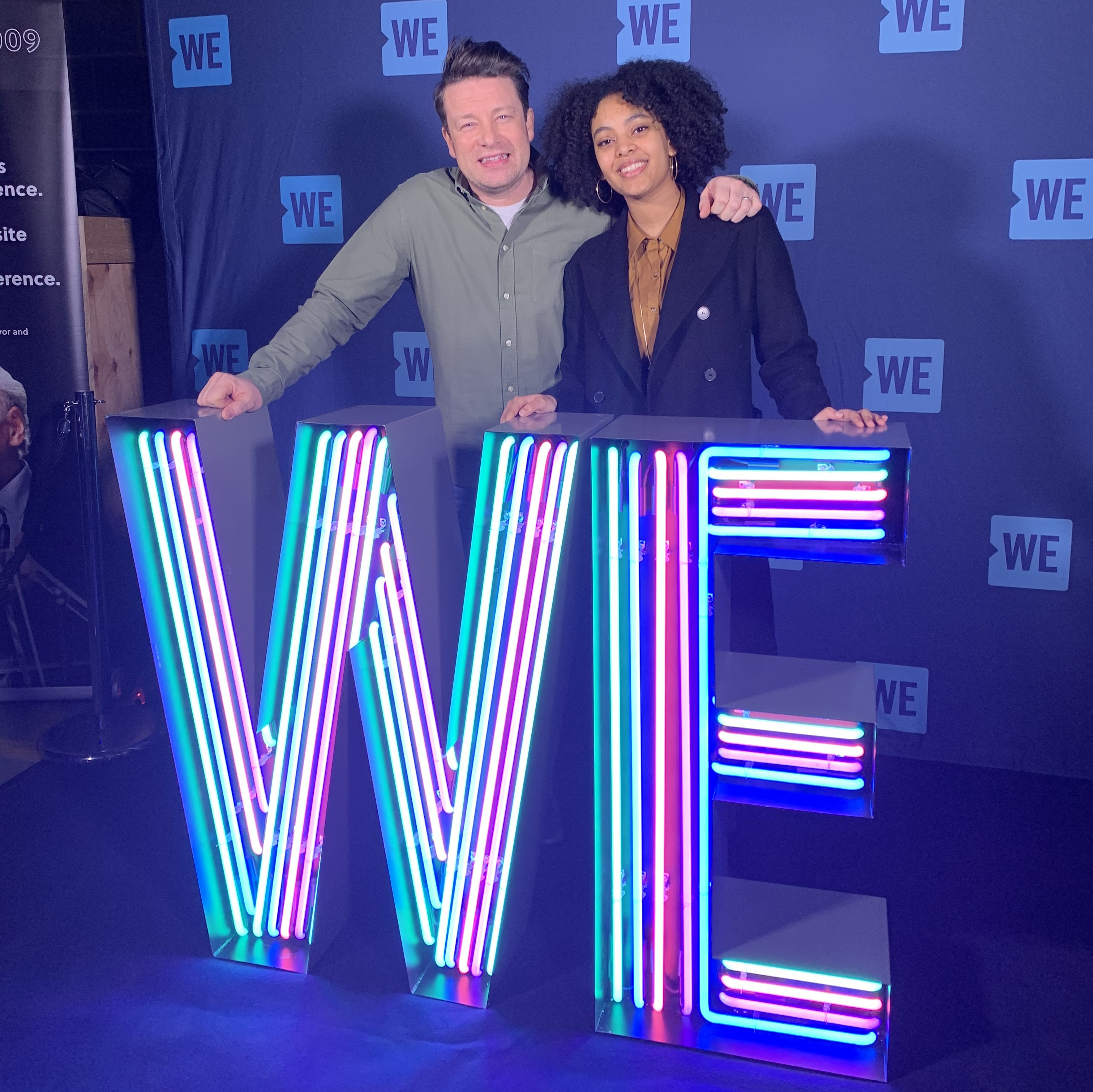 Jamie Oliver and Christina at We Day